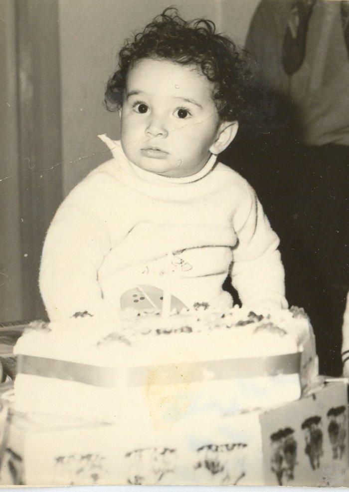 مجید اخشابی در کودکی