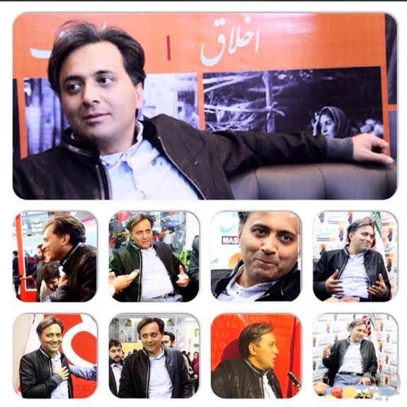 با مجید اخشابی در نمایشگاه مطبوعات