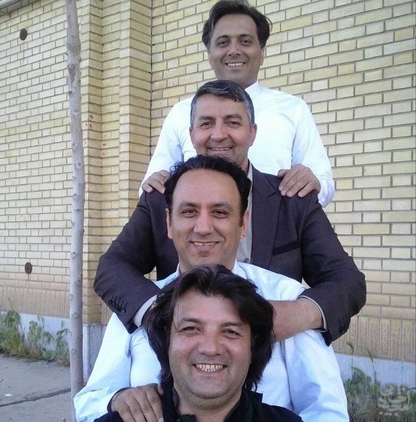 مجید اخشابی همراه با حمید ماهی صفت، مرتضی حسینی و مهدی مریخ در اراک