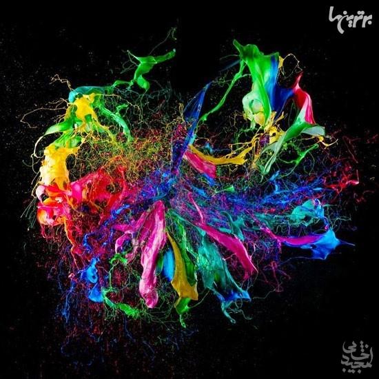 تصاویر خارق العاده از رنگ ها