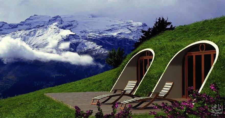 خانه های ساخته شده به سبک هابیت در زیر زمین