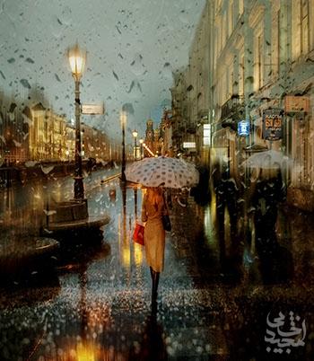 عکسهای خیابانهای بارانی روسیه که به شکل نقاشی رنگ روغن درآمدهاند