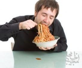 تند  غذا خوردن=  چاقی