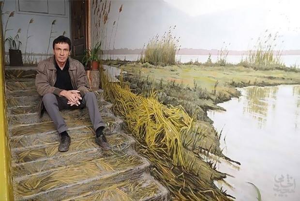 دیوارهای آپارتمان بوم نقاشی هنرمند روسی شد