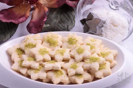 شیرینی نارگیلی با آرد برای ایام عید نوروز