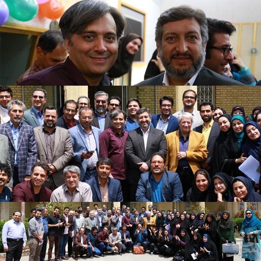 مجید اخشابی در جمع اهالی صدا و سیمای مرکز فارس به بهانه تولد رادیو