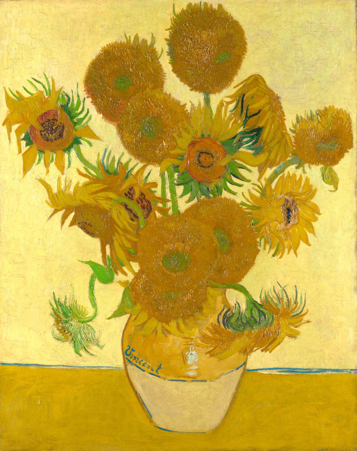 مشهورترین نقاشی های تاریخ: گل های آفتابگردان