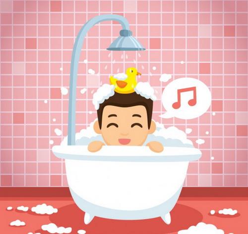 دلایل علاقه به آواز خواندن در حمام!