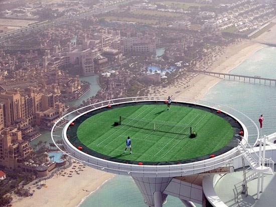 بلندترین زمین تنیس جهان