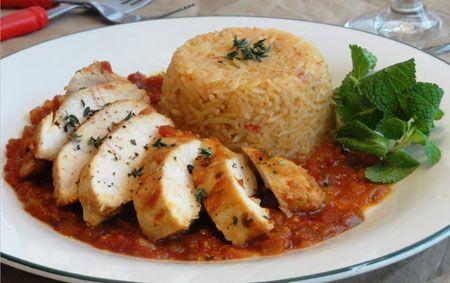 خورشت مرغ و پلو آفریقایی