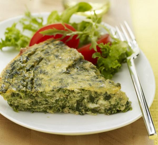 تارت اسفناج و پنیر