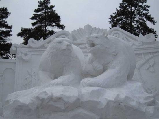 مجسمه های برفی خلاقانه