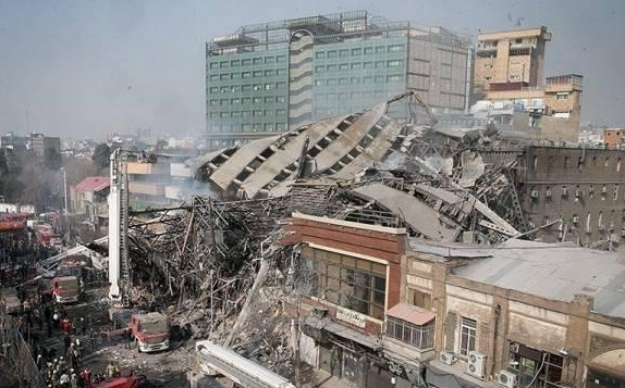 همدردی مجید اخشابی در حادثه ساختمان پلاسکو