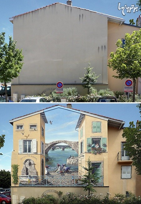 هنر خیابانی سه بعدی که با ذهنتان بازی می کند