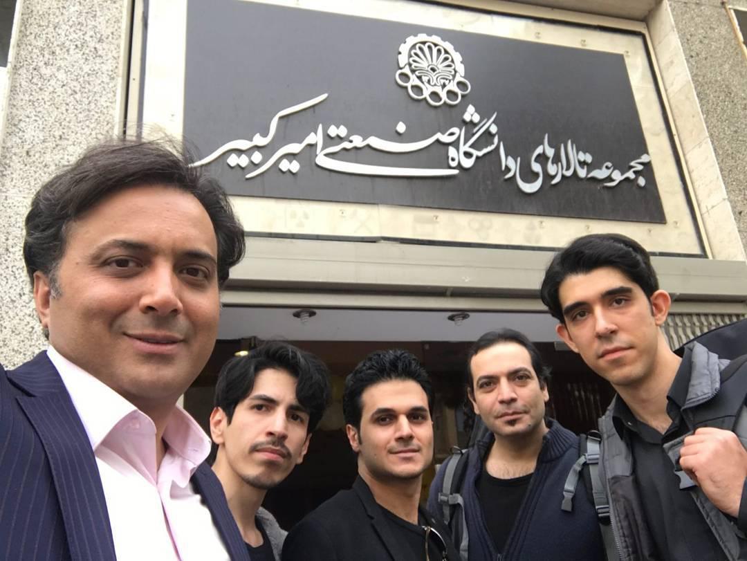 مجید اخشابی در دانشگاه امیرکبیر