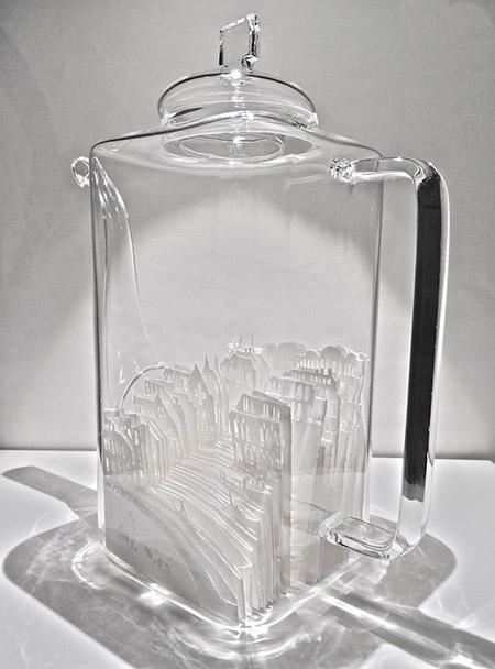 شهرهای کاغذی در ظروف شیشه ای