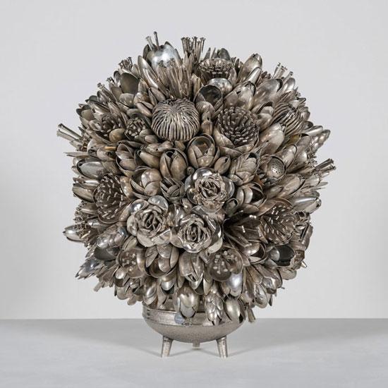 گل سازی با قاشق و چنگال