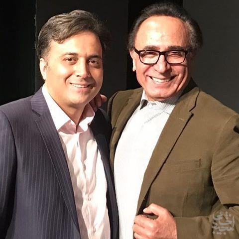 دکتر مجید اخشابی به همراه دکتر اسماعیل آذر