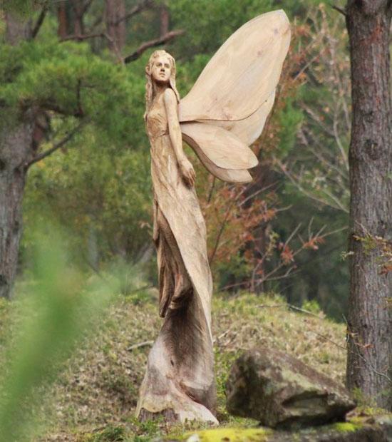 ساخت مجسمه چوبی با استفاده از اره برقی