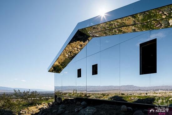 خانه ی آینه که تقریباً نامرئی به نظر می رسد