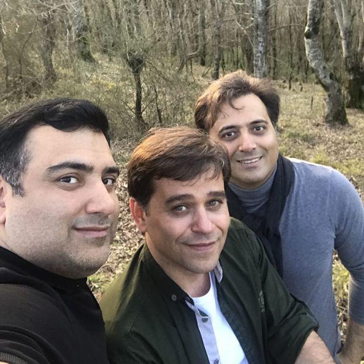 مجید اخشابی در ارتفاعات گرماپشته به همراه دوستان