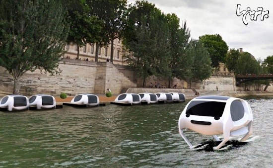 تاکسی هایی که روی رودخانه حرکت می کنند!