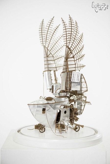 ماشین های پرنده مقوایی باالهام از استیمپانک