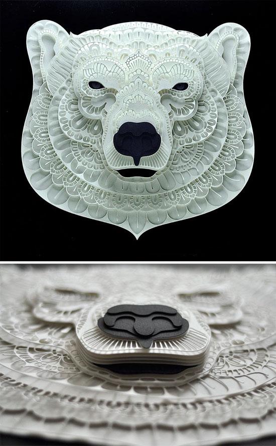 مجسمه های کاغذی فوق العاده زیبا و ظریف از حیوانات