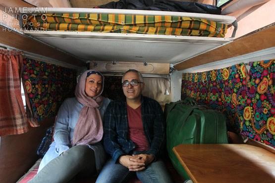 مصاحبه با زوجی که در یک فولکس زندگی میکنند!