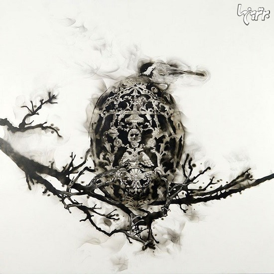 نقاشیهای باورنکردنی بااستفاده از دود و آتش