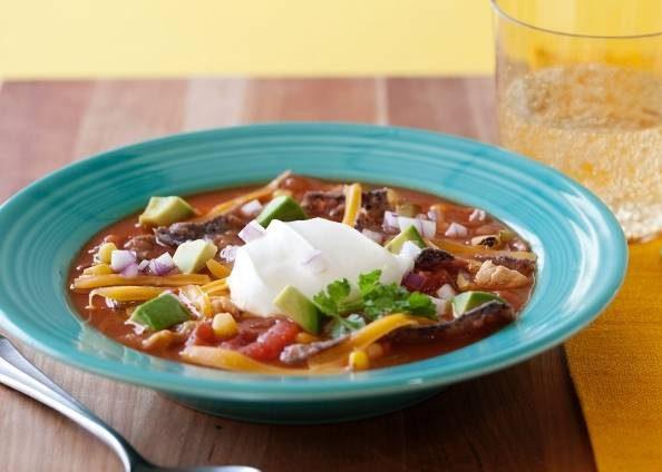 سوپ تورتیلا غذای خوشمزه مکزیکی