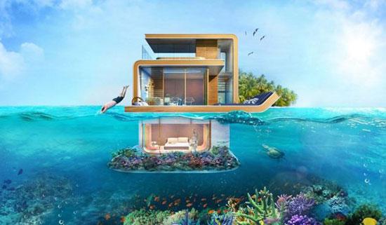 خانههای زیر آبی گرانقیمت و لوکس دبی