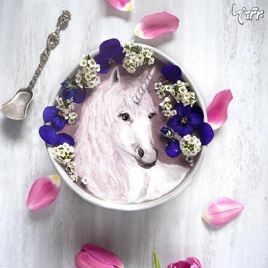 نقاشی های زیبا با موادخوراکی روی اسموتی