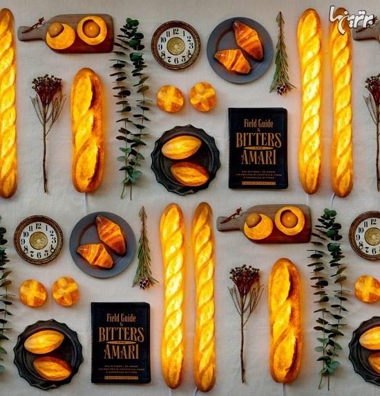 تبدیل نانهای واقعی به لامپ توسط هنرمند ژاپنی