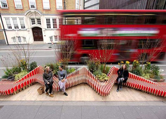 مبلمانهای شهری که خلاقانه طراحی شدهاند