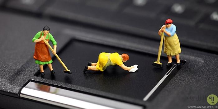 نحوه درست تمیز کردن لپ تاپ