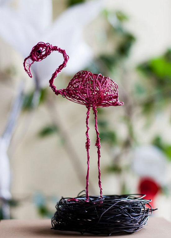 مجسمه سیمی حیوانات با مفتولهای بی مصرف