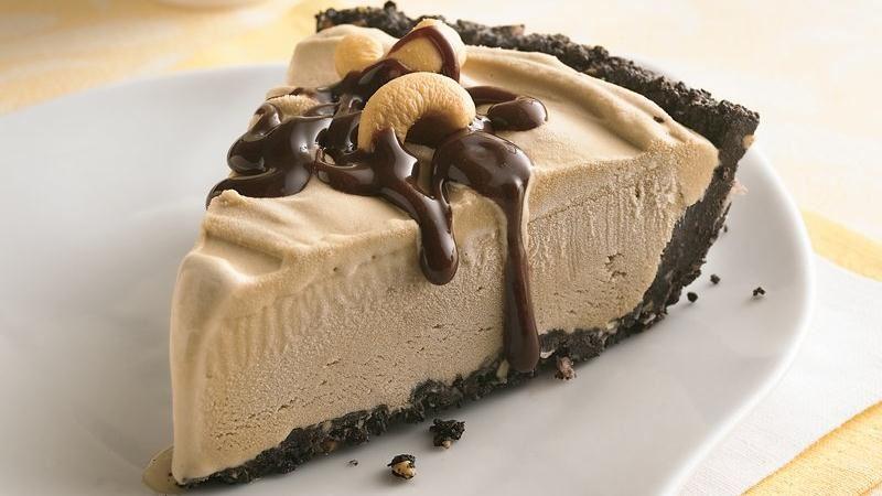 پای بستنی با طعم کارامل و شکلات
