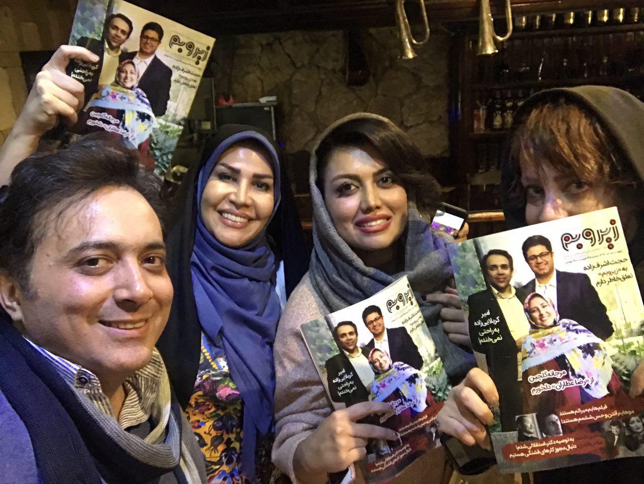 مجید اخشابی و جمعی از هنرمندان در رستوران ایتالیایی اپرا