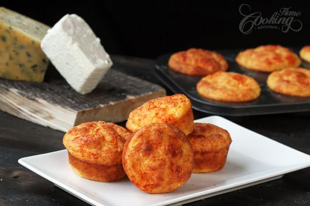 مافین پنیر، غذایی سریع و خوشمزه!