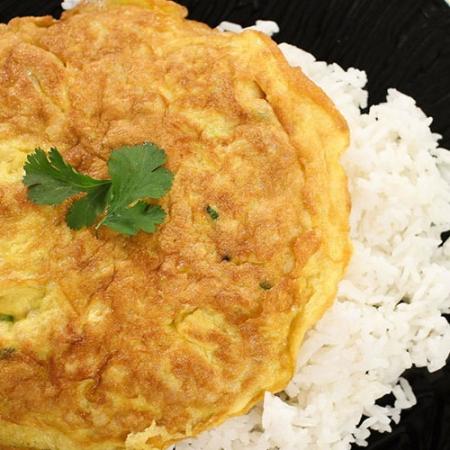 املت و برنج Omelette and rice