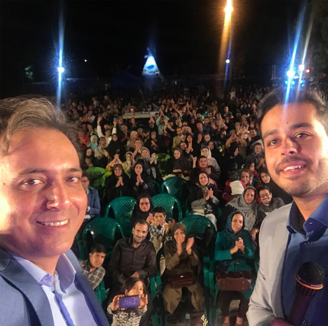اجرای دکتر مجید اخشابی در میان مردم خونگرم سرچشمه