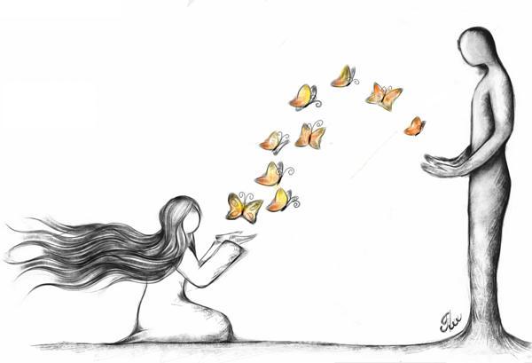گاهی پروانه ها هم به اشتباه عاشق می شوند
