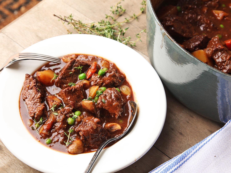 خورشت گوشت و سبزیجات