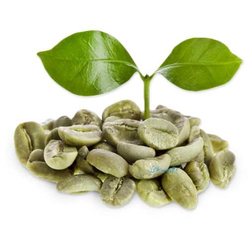 یک شکم صاف و بدون چربی با قهوه سبز
