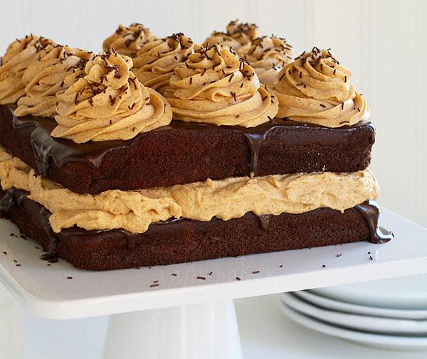 کیک شکلاتی با کرم کدوحلوایی