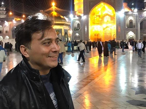 دقایقی در حرم امام رضا با دکتر مجید اخشابی