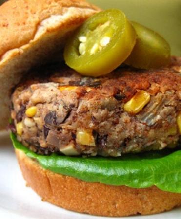 برگر ذرت و سویا، مخصوص گیاهخوران
