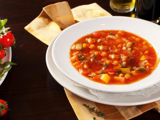 سوپ ایتالیایی کاملا گیاهی