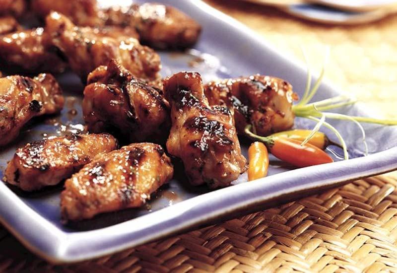 بال مرغ کبابی تایلندی